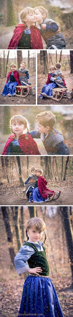 Frozen Photo Shoot: A brief guide with costume and prop ideas from www.findingstorybookland.com This is so cute!!!