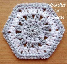 Hexagon Motif Free Crochet Pattern - Crochet 'n' Create