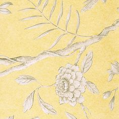 JASPER PEONY Gul botten, Kina-inspirerad tapet, Lewis & Wood.