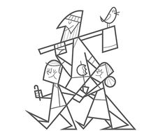Illustration by Ale Giorgini. This should be its own coloring book.
