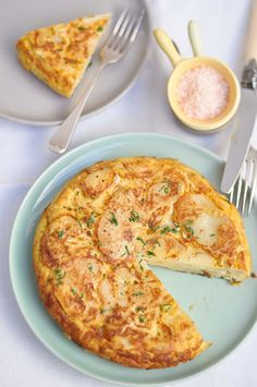 If a quiche and an omelet had a beautiful baby full of potatoes, it would be tortilla española. Get the recipe here.