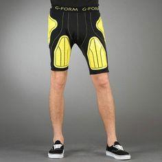 G Form Yellow Longboard Skateboard Crash Shorts Size X Large ...