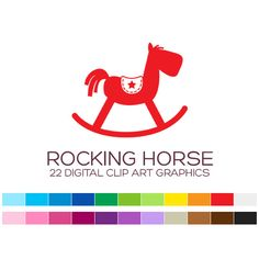 Rocking Horse Clipart for Personal & Commercial by coloryourway