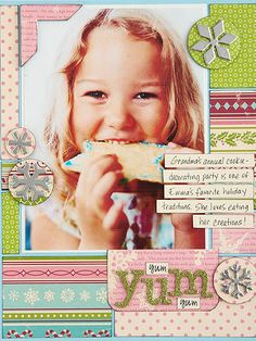Quick and Easy Christmas Scrapbook Pages: Christmas Cookie Page