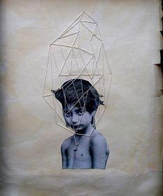 """childrenhood4"", Jose Ignacio Romussi Murphy (embroidery & collage) (via Flickr via @Rashi Birla)"