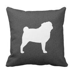 White Pug Silhouette Throw Pillow Shower Curtain @zazzle #zazzle #silhouette #black #white #pug #pugs #dog #dogs #pet #pets #cute #sweet #adorable #home #decor #bathroom #bathe #throw #pillow #buy #shop #sale #shopping #blog #blogging #look