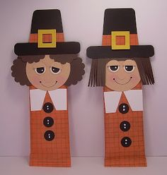 Thanksgiving activities: Pilgrim candy bar wrappers.  Adorable.