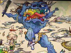 "Takashi Murakami's ""The 500 Arhats"" 2016 art exhibition at Mori Art Museum images Japanese Contemporary Art, Japanese Art, Modern Art, Takashi Murakami Art, Doodle Inspiration, Ap Art, Japanese Painting, Outsider Art, Art Portfolio"