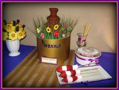 Chocolate Waterfall Fondue. Willy Wonka Party