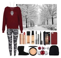 """""""Winter"""" by courtneyawesome333 ❤ liked on Polyvore featuring H&M, Boohoo, UGG Australia, MAC Cosmetics, Clinique, Elizabeth Arden, Smashbox, BERRICLE, Maison Takuya and Charlotte Tilbury"""
