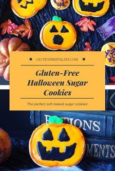 Gluten Free Frosting, Gluten Free Sugar Cookies, Easy Gluten Free Desserts, Gluten Free Cakes, Easy Desserts, Halloween Sugar Cookies, Halloween Treats, Halloween Party, Lego Halloween