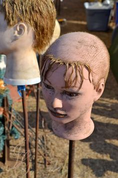 Image result for doll head on a stick -stand