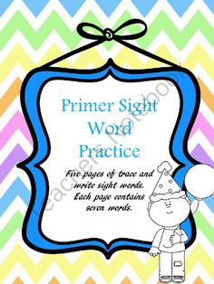Primer Sight Word Freebie from SensibleSubstitute on TeachersNotebook.com -  (6 pages)  - This pack covers some of the dolch 220 primer sight words.  Students trace and write the word.