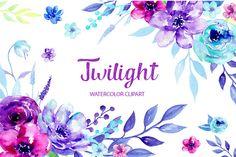 Watercolor Clipart Twilight - Illustrations - 1