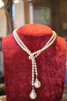 Antique 1920s luxury pearl necklace jewelry by JeanneDanjouJewelry