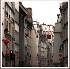 Quartier du Marais durant les fetes de la nouvelle annee Chinoise, Ile de France