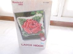"New Wondar Art Latch Hook Rose Kit 12"" x 12"" by Caron #4606 #WondarArt #PillowCover"