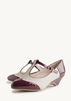 Ione Indie Kitten Heels In Wine By B.A.I.T. Footwear at #Ruche @Ruche