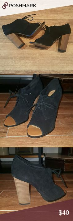 Aldo Suede Heel Super cute! Perfect condition, worn once! Just a little too big on me. Aldo Shoes Heels