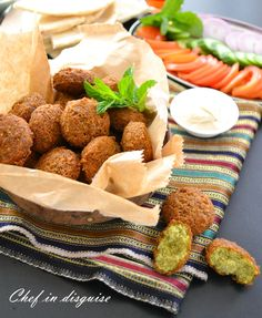 Falafel is one of the most popular traditional arabic foods. They are fried vegetarian patties, usually made of chickpeas, favabeans or a combination of both with an assortment of herbs and spices...