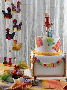 Bolo Festa Junina para revista Guia Cake Design 3. (www.djalmareinaldo.com.br) by Djalmma Reinalldo (Cake Designer), via Flickr