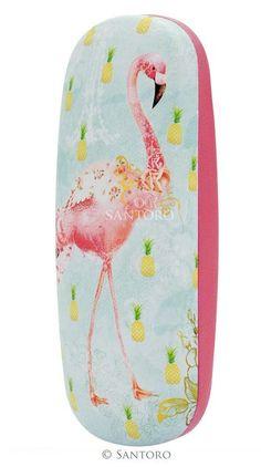 Brillenkoker - Flamingos Santoro London meerleuks