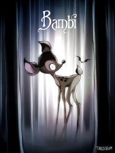Se il maestro del cinema dark-gotico, Tim Burton, avesse diretto i grandi classici Disney, quale sarebbe stato il risultato?    Un artista russo trapiantato a Los Angeles, Andrew Tarusov, si è fatto