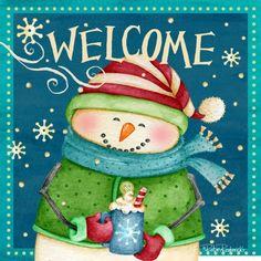 christmas welcome snowman- Robin Roderick