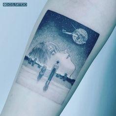 The End Of Evangelion✴️ . Sweet Tattoos, Cute Tattoos, Body Art Tattoos, Evangelion Tattoo, Neon Genesis Evangelion, Manga Tattoo, Anime Tattoos, Cat's Eye Anime, Korea Tattoo