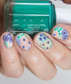 Wondrously Polished: Guest Post for Lucy's Stash - Vintage Floral Nail Art