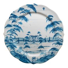 Juliska Country Estate Main House Charger/Server Plate :: very nice as I own some pieces, I mix and match with white;))