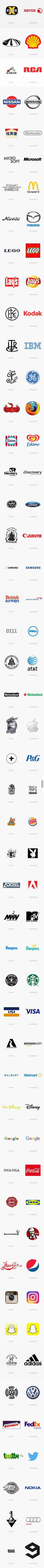 50 FIRST and current logos comparisons #9gag                              …