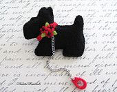 Scotty Dog Pin / Felt Pin / Felt Brooch