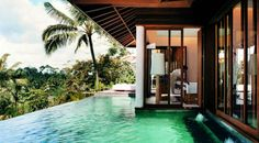 I wish I was here!  This gorgeous vacation retreat is in Bali.  I'd love to stay here.