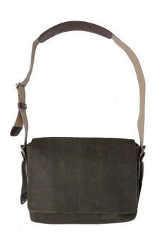 Brooks England LTD. - bag - shoulder bag for cycling in waxed canvas, adjustable shoulder strap with leather shoulder support, pockets for objects on the front, flap closure with magnet. Brooks England LTD. Brooks England, Fall Winter, Autumn, Waxed Canvas, Messenger Bag, Shoulder Strap, Cycling, Satchel, Objects
