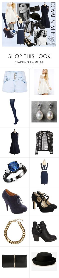 """""""Kate Middleton In Navy Blue"""" by asparamoreluvr ❤ liked on Polyvore featuring Parisian, Arrogant Cat, Topshop, Seychelles, Pièce d'Anarchive, Hobbs, Club Manhattan, Nina Ricci and dresskate"""
