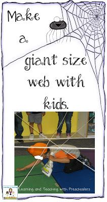 Make a giant web: 3 in 1: Tie prize to yarn, roll skein in a ball concealing prize--Seat kids in circle, toss skein looping on pole and throw to new player. Skeins not thrown far enough are retrieved through web. Used finish product in obstacle course