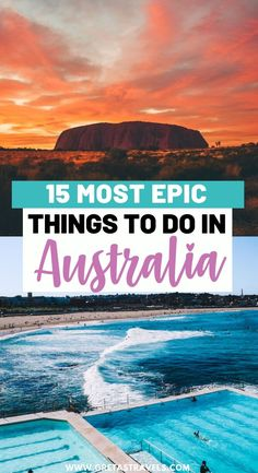 Planning a trip to Australia in 2020 but not sure where to go? Discover the 15 absolute cannot miss adventures that you have to add to your Australia bucket list! Outback Australia, Australia Day, Visit Australia, Melbourne, Sydney, Cool Places To Visit, Places To Travel, Travel Destinations, Great Barrier Reef
