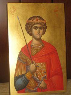Άγιος Γεώργιος / Saint George Byzantine Icons, Byzantine Art, Art Icon, Saint George, Orthodox Icons, Christen, Saints, Kirchen, Religious Art