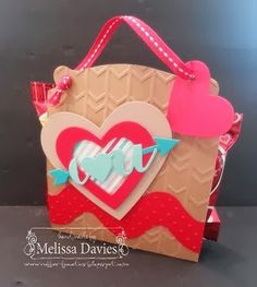 Valentine pouch - WITH INSTRUCTIONS - by Melissa Davies @ rubberfunatics