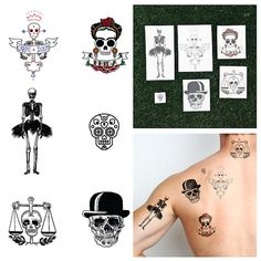 To Die For - Temporary Tattoo (Set of 12)