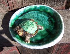 Turtle Soap Dish by Dragonware on Etsy, $20.00