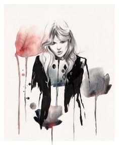 Esra Roise的创意水彩人物插画设计作品