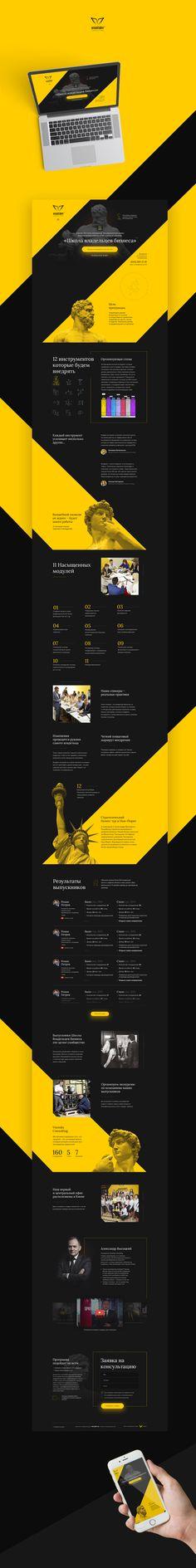 Landing page для компании Visotsky Consulting