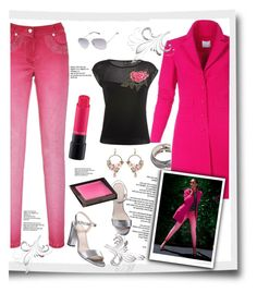 """""""spring all day outfit by madeleine"""" by rousou ❤ liked on Polyvore featuring MAC Cosmetics, Jouer and Betsey Johnson"""