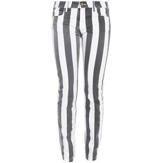 FAITH CONNEXION Stripe Skinny Jean ($53) ❤ liked on Polyvore featuring jeans, pants, bottoms, pantalones, calças, cut skinny jeans, white skinny jeans, stripe skinny jeans, skinny jeans and denim skinny jeans