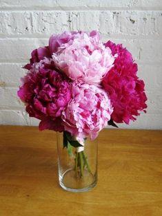 Bouquet of Peonies. I love peonies. Wedding Centerpieces, Wedding Bouquets, Wedding Flowers, Purple Bouquets, Tall Centerpiece, Flower Bouquets, Diy Flower, Bridesmaid Flowers, Purple Wedding