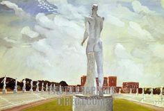 Alexander Deineka (Russian, Stadium in Rome, 1935 Rome, Gauguin, Socialist Realism, Soviet Art, Reproduction, Russian Art, Dieselpunk, Roman Empire, Contemporary Artists