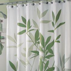 InterDesign 35630 Leaves Fabric Shower Curtain
