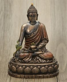 Cold Cast Bronze Medicine Buddha Statue